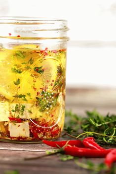 Zesty Marinated Feta Cheese - Feta cheese can be used for so many different recipes!! It's absolutely delicious when it's marinated to perfection! Feta cheese is going to be your new favorite thing we're sure!! | Scrambled Chefs.com