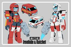 Gender swapped Ironhide and Ratchet Ironhide Transformers, Transformers Girl, Robots Characters, Transformers Characters, Robot Concept Art, Mecha Anime, Super Robot, Ex Machina, Cartoon Games