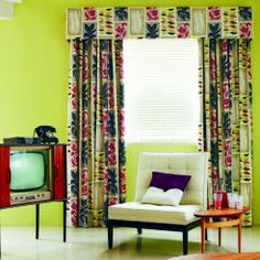 Mad Men inspired set for Sanderson 50s wallpaper/fabric collection. Styled by Charis White. Photography: Mel Yates.