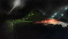 Op de achterkant van t houten paneel staat deze afbeelding. Direct geprint op hout. Een drieluik. Ook als losse onderdelen te bekijken. k weet niet, mijn plan gaat niet door.      - - Ik ga 'm maken in photoshop... (ik wil 't zien) Northern Lights, Photoshop, Nature, Travel, Naturaleza, Viajes, Destinations, Nordic Lights, Aurora Borealis
