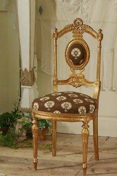 アンティーク ゴールドチェアB   French Antique Chair