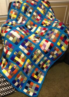 A Simple Country Gal - Woven scrap squares - a great way to use up your stash of small scraps!