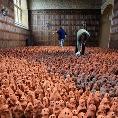 Fancy - Antony Gormley Clay Figures @ Barrington Court