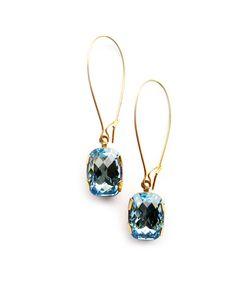 Aqua Bling Earrings