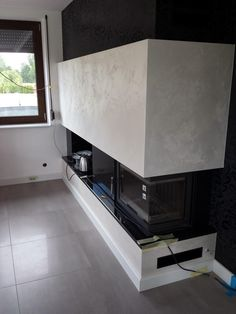 marcopolo san marco decorative texture paint on modern fireplace