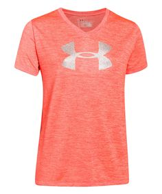 Love this Under Armour® After Burn Logo V-Neck Tee - Girls by Under Armour® on #zulily! #zulilyfinds