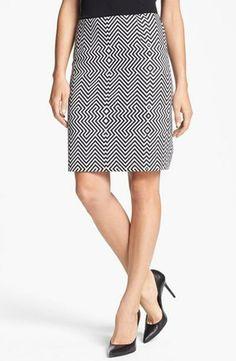 Anne Klein Ponte Knit Pencil Skirt