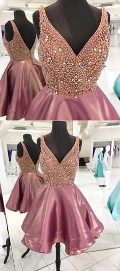 Prom Dresses Short #PromDressesShort, Pink Prom Dresses #PinkPromDresses