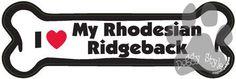 I Love My Rhodesian Ridgeback Dog Bone Magnet