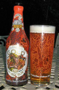 Hobgoblin Gold in its 2016 Halloween bottle, served in the Wychwood 2016 Hobgoblin Halloween Glass. Great glass very nice beer. 8/10