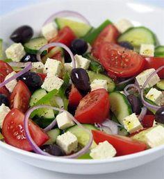 Greek salad recipe - MediterrAsian.com. Great for a summer BBQ