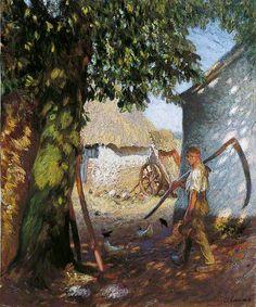 George Clausen - The Farmyard - 1908