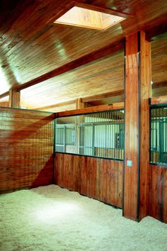 Inside one of the stalls at Knox Farm. Designed by GH2 Gralla Equine Architects.