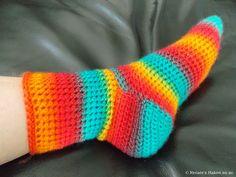 Gehaakte sokken (met link naar gratis patroon) / crochet socks (with link to free pattern)