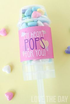 'My Heart POPS For You' FREE PRINTABLE Valentine by Love The Day