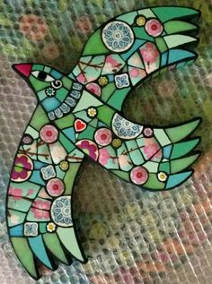 Contemporary mosaic art by Amanda Anderson. Mosaic Artwork, Mosaic Wall, Mosaic Glass, Mosaic Mirrors, Mosaic Animals, Mosaic Birds, Mosaic Art Projects, Mosaic Crafts, Mosaic Ideas