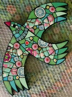 Stained Glass Mosaic Dahlia Flower Mandala Design by Kasia ...