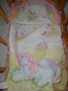 My Little Pony Doll's Quilt Pillow Sham 1984 British Made by Telitoy