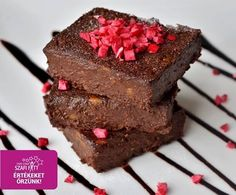Gluténmentes vegán brownie (zsírszegény, tojásmentes light paleo recept) Vegan Bar, Vegan Brownie, Gluten, Sugar Free Desserts, Health Eating, Vegan Recipes, Clean Eating, Food And Drink, Sweets