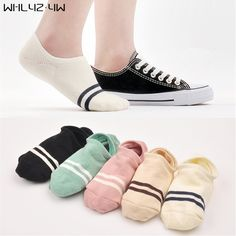 5 Pairs Summer Ankle Socks Candy Color Non-slip - Shopamazon Nation