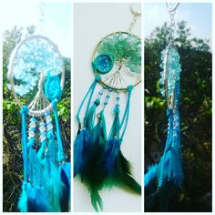 #handmade #dreamcatcher #blue