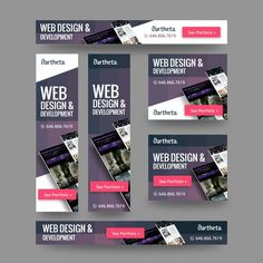 Freelance Jobs Compelling Banner Ads for Web Development Company by Kuz:Design