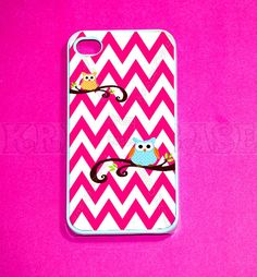 Owl+with+Chevron+Pattern+iphone+4+Case+iPhone+4s+case+by+KrezyCase,+$14.99