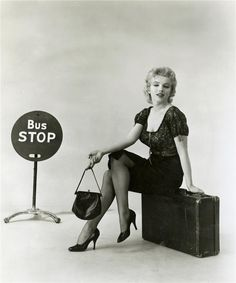 Marilyn Monroe promotional photo for 'Bus Stop', 1956.
