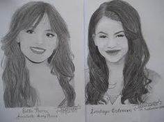 drawing of bella thorne and zendaya - Google Search