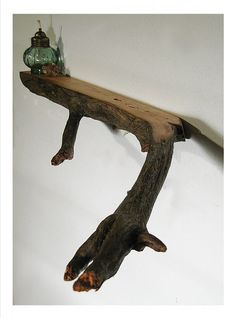 Branch Shelf - alternative idea for office, or anywhere in the house for that matter
