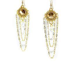 Willow Earrings Gold Beading Kit