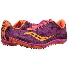 Saucony Shay XC4 Flat Green/Citron/Pink B - Medium Women's Running Shoes 8539596