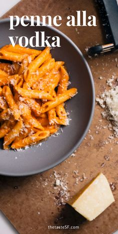 Here's how to make a simple penne alla vodka dish. Start with the base of our favorite easy Italian tomato sauce recipe that's straight from Mamma Agata in Italy! #italian #pasta #recipe #easy #cheese #food