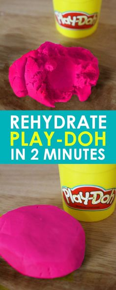 Rehydrate Play Doh | Easy Life Hack: It's crazy easy and only takes about 1-2 minutes to rehydrate Play Doh! If you have kids, this is a life hack you need to know!