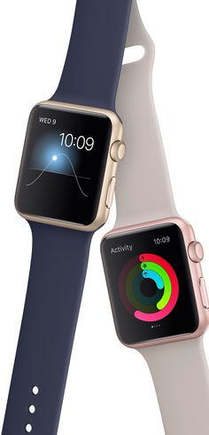 Apple watch sport in rose gold and gold finishes