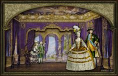 EKDuncan - My Fanciful Muse: French Parlor Scene with Marie and Friends