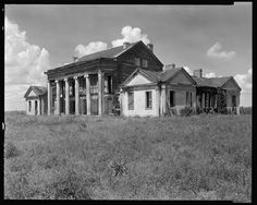 """In Assumption Parish, Louisiana, """"Woodlawn Plantation, . Built 1835 by Col. Pugh, first superintendent of schools in Louisiana."""" {text by Frances Benjamin Johnston}. Old Buildings, Abandoned Buildings, Abandoned Places, Abandoned Property, Abandoned Plantations, Louisiana Plantations, Old Mansions, Abandoned Mansions, Southern Plantation Homes"""