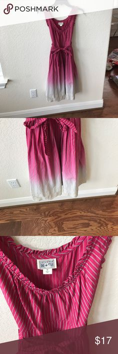 Converse ombré pinstripe sundress ! Line new Shades of pink white and gray . Dress it up or down . Cotton. Very comfortable Converse Dresses