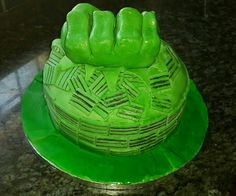 Hulk cake Hulk Cakes, Cupcake Cakes, Cupcakes, Watermelon, Fruit, Desserts, Food, Tailgate Desserts, Deserts
