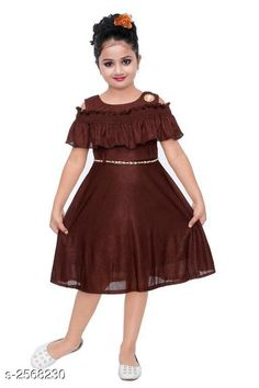 Checkout this latest Frocks & Dresses Product Name: *Fabulous Kid's Girls Dress* Sizes: 1-2 Years, 2-3 Years Easy Returns Available In Case Of Any Issue   Catalog Rating: ★3.9 (1008)  Catalog Name: Cutepie Fabulous Kid's Girls Dresses Vol 10 CatalogID_346494 C62-SC1141 Code: 642-2568230-075