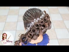 Acconciatura Quinceanera - Italiano Newest Hair Design Princess Hairstyles, Girl Hairstyles, Wedding Hairstyles, Little Girl Fashion, Hairstyles For School, Hair Designs, Prom Hair, New Hair, Hair Cuts