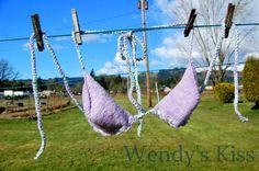 Knitted Bikini Top - Purple Sparkle Mint, Size Medium. $30.00, via Etsy. Beautiful!
