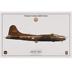"Paul Tibbets B-17 ""Red Gremlin"" Signed Aircraft Print"