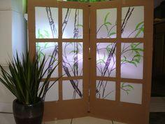 DIY cardboard shoji screen