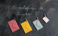 Envelopes de tecido, via Flickr.