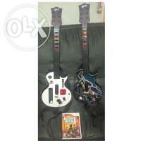 Guitar Hero Controller 2pcs Wii + Game 2k only