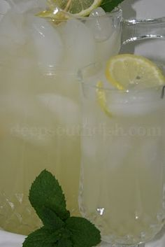 Homemade fresh lemonade made with freshly squeezed lemons and simple syrup.