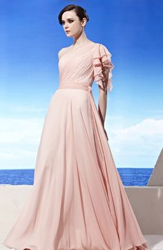 Side Sash Goddess Dress with Shoulder Frill AU$193.03...maybe white or ivory...