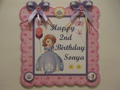 Princess Sofia the First Personalized by serenaspartyboutique, $14.95