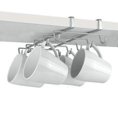 Metaltex 364928039 My Mug Rail de rangement suspendu pour 10 tasses